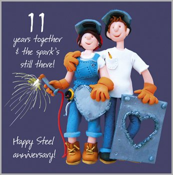 11th Wedding Anniversary Gift Ideas Uk : Home Occasion Gifts 11th Wedding Anniversary Card