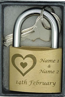40mm-Love-Lock-Personalised-Engraved-Padlock-with-3-Hearts-image-Gift-Box-and-Bold-Contrasting-Text-of-your-choice-0