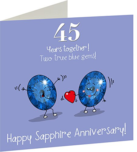 Th wedding anniversary greetings card sapphire
