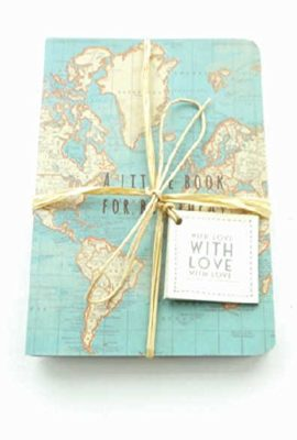 A-Little-Book-For-Big-Ideas-Pocket-Notepad-x-2-Vintage-World-Map-Design-With-Gift-Tag-0