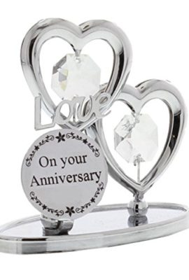 Crystocraft-Keepsake-Gift-Chrome-Plated-On-Your-Anniversary-Gift-Ornament-Love-Hearts-with-Swarvoski-Crystal-Elements-0