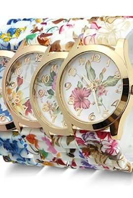 Estone-Hot-Fashion-Women-Dress-Watch-Silicone-Printed-Flower-Causal-Quartz-Wristwatches-0