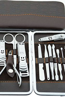 UNHO-Finger-Toe-Nail-Cutter-Stainless-Steel-12-pcs-Personal-Manicure-Nail-Scissors-Set-Nail-Clipper-Earpick-Grooming-Pedicure-Kits-MenWomen-Nail-Trimmer-0