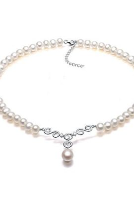 VIKI-LYNN-Pearl-Necklace-with-Pendant-AAA-Cultured-Freshwater-Pearl-18K-Gold-Plated-Sterling-Silver-Wedding-Necklaces18Inch-0