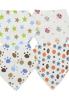 Alva-Stylish-Baby-Bandana-Bibs-for-Boys-and-Girls-4-Pack-of-Super-Absorbent-Baby-Gift-Sets-0