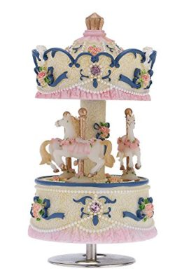 Andoer-Laxury-Windup-3-horse-Carousel-Music-Box-Creative-ArtwareGift-Melody-Castle-in-the-Sky-PinkPurpleBlueGold-Shade-for-Option-0