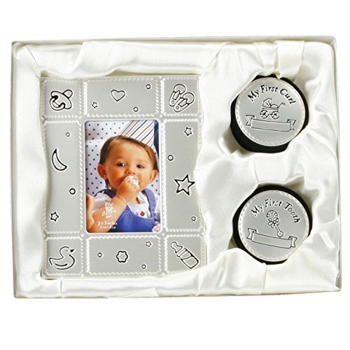 Top Baby Gifts Uk : Baby photo frame my first curl tooth box gift set birth