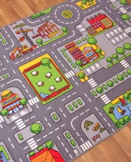 Childrens-Play-Village-Mat-Town-City-Roads-Rug-0