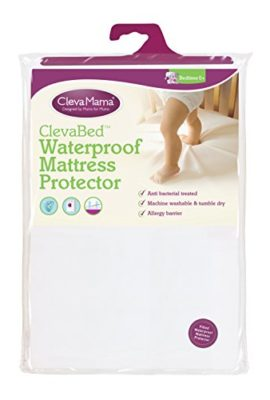 Clevamama-Waterproof-Mattress-Protector-Cot-Bed-70x140-cm-Fitted-Brushed-Cotton-0