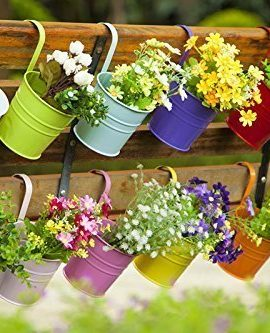 Dipamkar-Set-of-10-Metal-Hanging-Flower-Pots-With-Drainage-Hole-Flower-Bucket-Balcony-Planter-Garden-Home-Ornaments-0