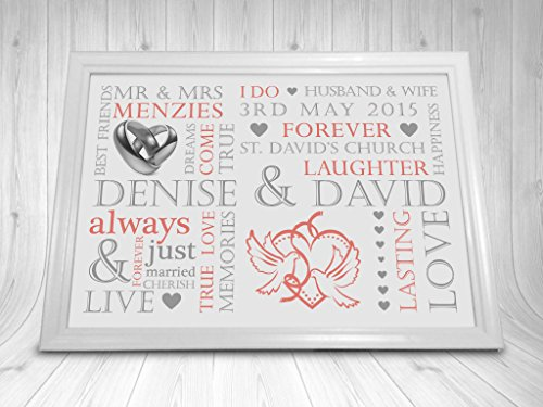 Great Wedding Gifts Uk : Home Occasion Gifts Wedding Print Personalised Word Art Gift Marriage ...