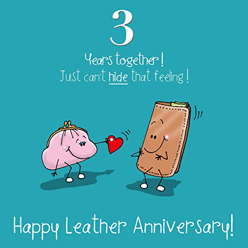 Best 3 Year Anniversary Gifts: 3rd Wedding Anniversary Greetings Card
