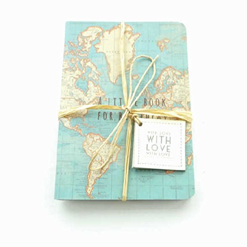 A little book for big ideas pocket notepad x 2 vintage world map a little book for big ideas pocket notepad x 2 vintage world map design with gift tag gumiabroncs Images