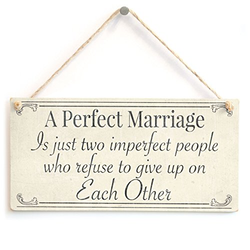 Perfect Wedding Anniversary Gift For Husband: A Perfect Marriage Is Just Two Imperfect People Who Refuse