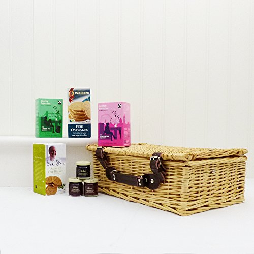 18th Wedding Anniversary Gift Ideas For Her: Breakfast In Bed Wicker Gift Basket Hamper With 7 Items