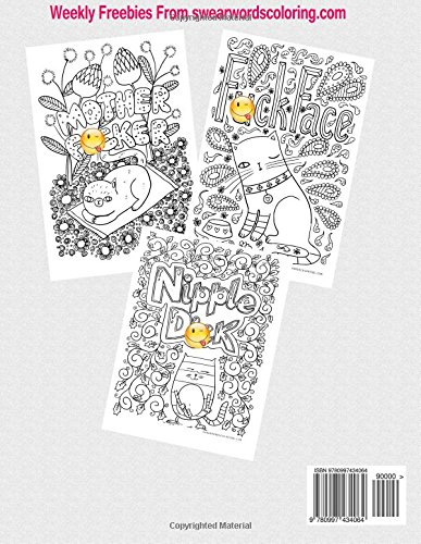 Creative Sweary Cats Adult Coloring Books Featuring Stress