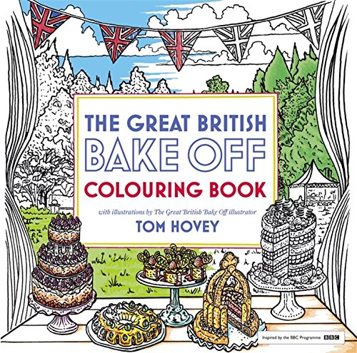Great British Bake Off Colouring Book With Illustrations