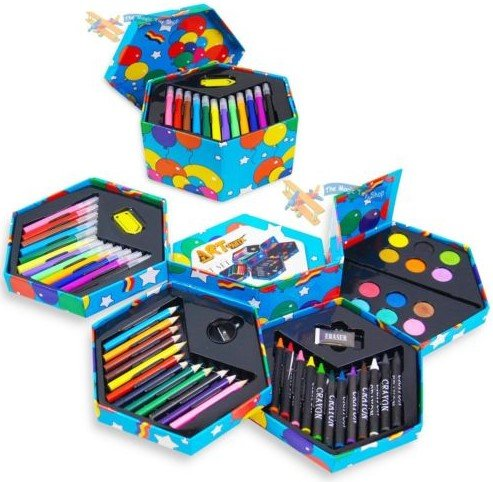 52 pcs craft art artists paints pens pencils set great for Funky household gifts