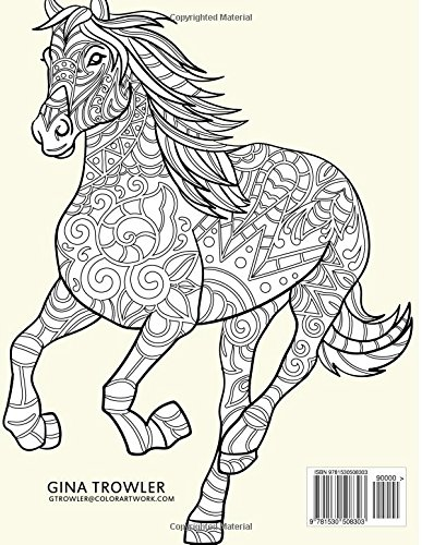 Horse Colouring Book Stress Relief Patterns For