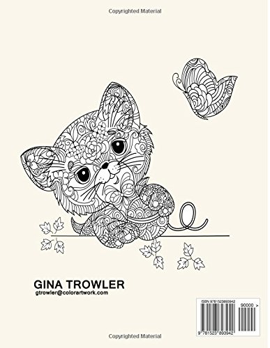 Cat Lover Adult Colouring Book Best Gifts For Mum Dad