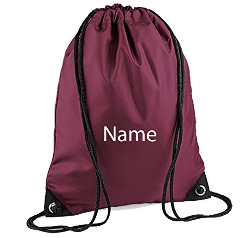 Embroidered Personalised Drawstring Gym Bag Any Name Gym