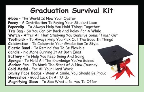 Graduation Survival Kit In A Can. Humorous Novelty Fun ...