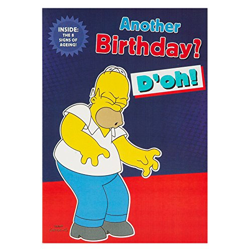 Hallmark the simpsons birthday card for him 39 8 signs of - Anniversaire simpson ...