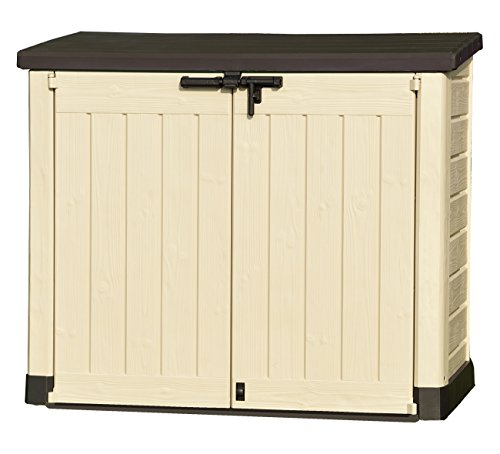 keter store it out max plastic outdoor garden storage shed beige and brown. Black Bedroom Furniture Sets. Home Design Ideas