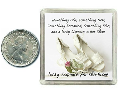 Lucky Wedding Gifts: Lucky Silver Sixpence For The Bride To Be. Coin For