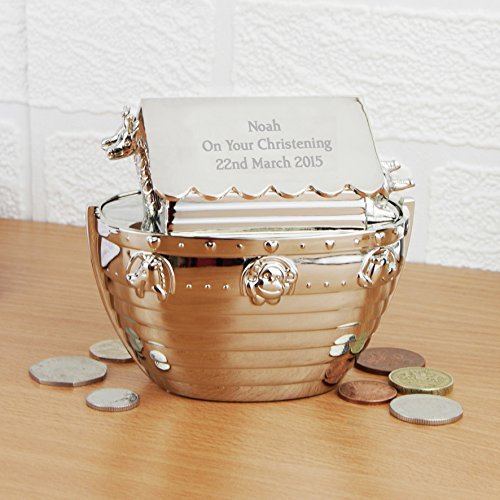Personalised Noahs Ark Money Box Christening Or Birth
